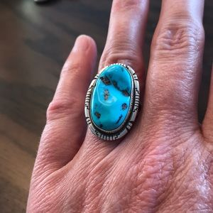 Jewelry - Turquoise and sterling silver ring